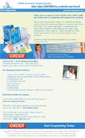 Internet email ad design